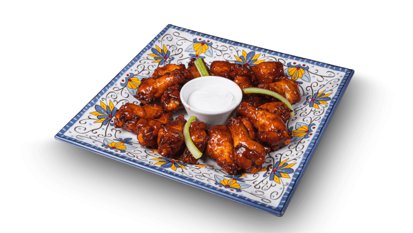 Twice cooked buffalo wings